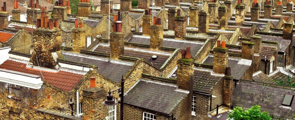 Roof top image used for multicomfort.co.uk article 'Why healthy homes make economic sense'